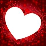 Heart in red background. Illustration of red heart background Stock Image