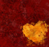 Heart on red background. oil painting picture Royalty Free Stock Images