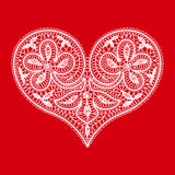 Heart on a red background to the Valentine's Day Royalty Free Stock Photography