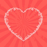 Heart, red background. Vector illustration Royalty Free Stock Images