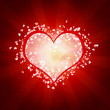 Heart on a red backround Royalty Free Stock Photos