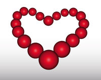 The heart from red balls. Heart of the red ball on a gray background Royalty Free Stock Photos
