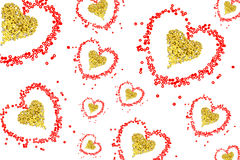 Heart from red beads Stock Images