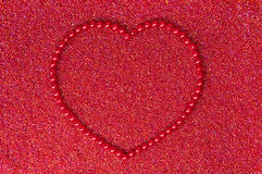 Heart of the red beads Royalty Free Stock Photography