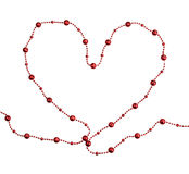Heart of red beads Royalty Free Stock Image