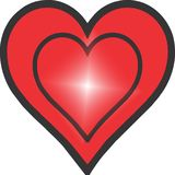 Heart red and black Royalty Free Stock Images