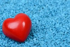 Heart. Red heart on a blue background Stock Image