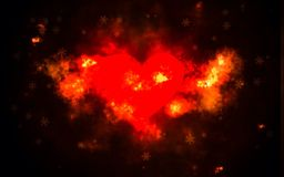 Heart. Fire red Stock Photography