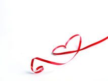 Heart red bow Royalty Free Stock Photography