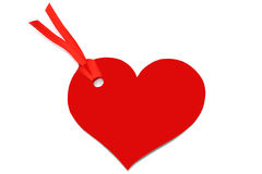 Heart with red bow Stock Photos
