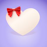 Heart With Red Bow Royalty Free Stock Photo