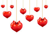 Heart With Red Bows Royalty Free Stock Photos