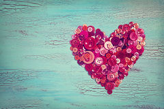 Heart from red buttons Royalty Free Stock Images