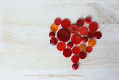 Heart of red buttons Royalty Free Stock Image