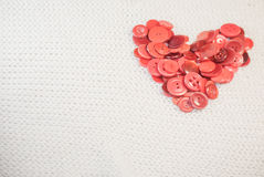 Heart of red buttons Stock Photography