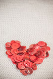 Heart of red buttons Royalty Free Stock Images