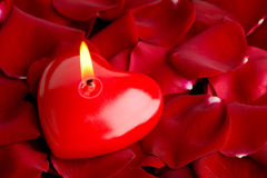Heart red candle Stock Photo