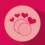 heart red cartoon cookie icon design Stock Photography