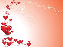 heart on red color valentine's day Stock Images
