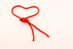 Heart of red cord Royalty Free Stock Photos