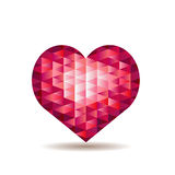 Heart from red crystals Royalty Free Stock Photo
