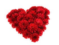 Heart from red flowers Royalty Free Stock Image