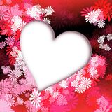 Heart red flowers royalty free stock images