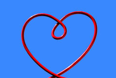 red wire heart Royalty Free Stock Image