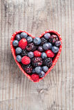 Heart of red fruit Royalty Free Stock Image