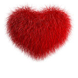 Heart from red fur Stock Photography