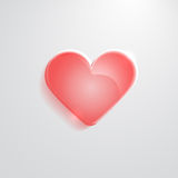 Heart red glass icon Stock Photo