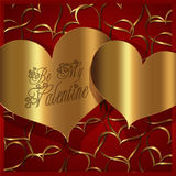 Heart Red Gold collection Stock Photos