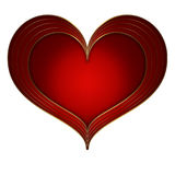 Heart Red Gold collection Stock Image