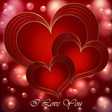 Heart Red Gold collection Royalty Free Stock Images