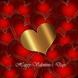 Heart Red Gold collection Royalty Free Stock Photography