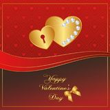 Heart Red Gold collection - Diamond Royalty Free Stock Photo