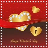 Heart Red Gold collection - Diamond Stock Images