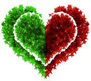 Heart red and green concept Royalty Free Stock Photography