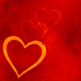Heart on a red grunge background. Valentine's day symbol Royalty Free Stock Image