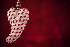 Heart on red Royalty Free Stock Image