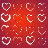 Heart on a red Stock Images