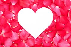 Heart of red petals Royalty Free Stock Photos