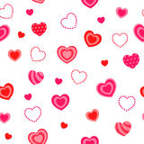Heart red pink seamless pattern illustration Stock Photography
