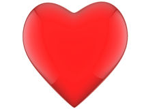 Heart red with reflections Stock Image