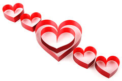 Heart of red ribbon Royalty Free Stock Images