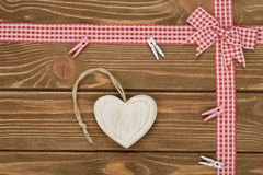 Heart and red ribbon Royalty Free Stock Images