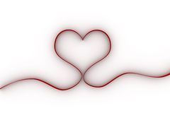 Heart with red ribbon Royalty Free Stock Photos