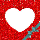 Heart of red rose petals. EPS 10 Royalty Free Stock Image