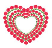 Heart from red roses Stock Photo