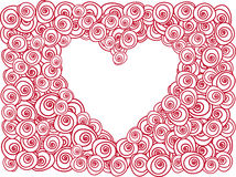 Heart with red roses Royalty Free Stock Image